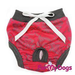 ForMyDogs Трусики для собак красные для девочки, размер 14