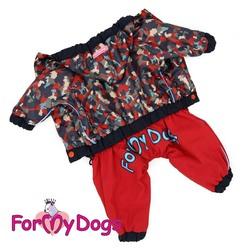 ForMyDogs Дождевик для собак красный, модель для мальчиков, размер №8