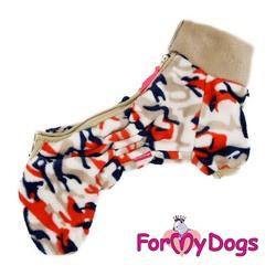 ForMyDogs Комбинезон для собак плюшевый бежевый для девочек, размер №16