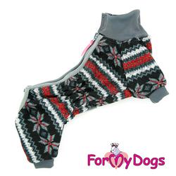 ForMyDogs Комбинезон для маленьких собак серый для мальчиков, размер №10