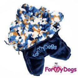 ForMyDogs Комбинезон-шубка для собак мультиколор, модель для мальчиков, размер 10