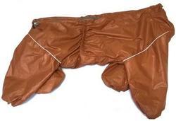 LifeDog Дождевик для средних собак, рыжий, размер 3XL, спина 47-50см.