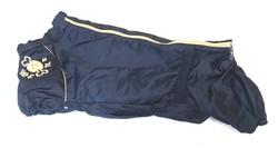 LifeDog Дождевик для большой таксы, синий/беж.кант, размер №4, спина 50-55см