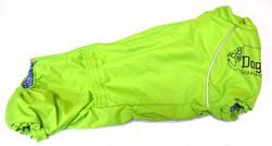 LifeDog Дождевик для таксы, зеленый/неон, размер №3, спина 44см