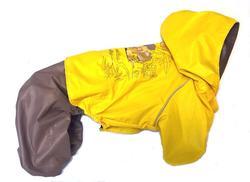 LifeDog Дождевик для собак, желто/бежевый, размер XL, спина 40см