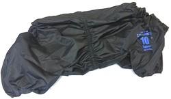 LifeDog Дождевик для английского бульдога, черный, №7, спина 45-48см
