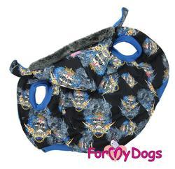 ForMyDogs Куртка для крупных собак черная, размер D1