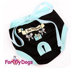 ForMyDogs Трусики для собак для гигиены черные для девочки, размер №8, №10, №12