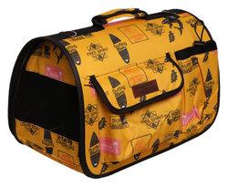 Lion Сумка-переноска Премиум с карманами, желтая, размер L, 50х31х30см