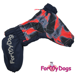 ForMyDogs Комбинезон для крупных собак красный, модель для девочек, размер С1, С2, С3, D1, D2, D3