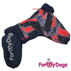 ForMyDogs Комбинезон для крупных собак красный, модель для девочек, размер С2, D1