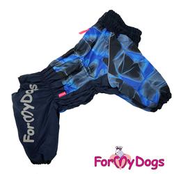 ForMyDogs Комбинезон для крупных собак синий, модель для мальчиков, размер С2, D3