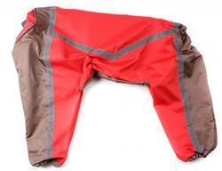 ZooAvtoritet Дождевик для крупных пород собак, красно/коричневый, размер 6XL, спина 65см