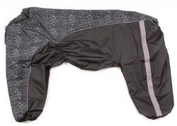 ZooAvtoritet Дождевик для крупных пород собак, черный/крапинка, размер 8XL, спина 75см