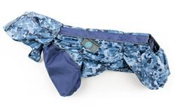 ZooAvtoritet Дождевик для французского бульдога/мопса, камуфляж/синий, размер ФР1, ФР2