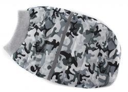 ZooAvtoritet Куртка для собак на синтепоне, серый камуфляж, 2Xl, спина 38см