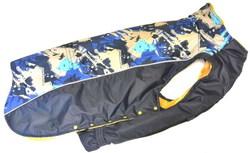 Stefa Попона для крупных собак синяя с мехом №7, спина 77см