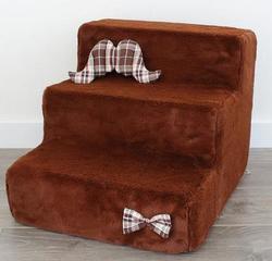 """LuxDog Лестница для собак коричневая """"Каштан"""", 2 размера"""