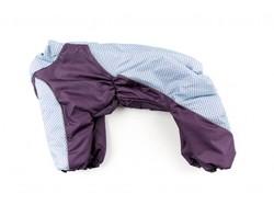 ZooPrestige Комбинезон для собак, фиолетовый/сиреневый орнамет, размер 2XL, спина 40-42см