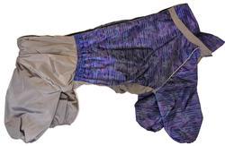 """ZooTrend Дождевик для крупных пород собак, серый """"Вязка"""", размер 7XL, спина 80см"""