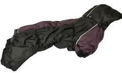 ZooPrestige Комбинезон на флисе для таксы, черный/фиолетовый, размер ТМ2, спина 40см