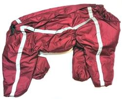 ZooPrestige Комбинезон для крупных собак, бордо, размер 6XL, спина 65см, синтепон