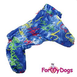 ForMyDogs Комбинезон для крупных собак синий, модель для мальчиков, размер С3