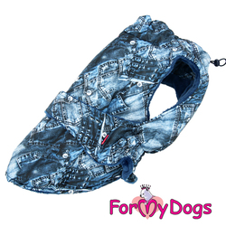 """ForMyDogs Попона для крупных собак """"Джинса"""" синяя, размер D2"""