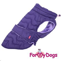 ForMyDogs Попона для крупных собак фиолетовая, размер С3, D1