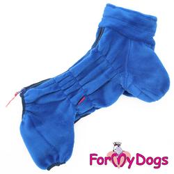 ForMyDogs Комбинезон из плюша синий, модель для мальчиков, размер 20, 22
