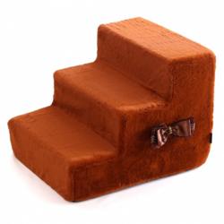 """P&D Лестница-ступеньки для собак """"Шоколад"""", коричневая 3 ступени 48x40x36 см"""