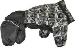 ZooTrend Комбинезон для больших пород собак, газета/черный, размер 6XL