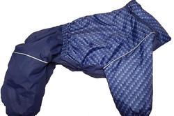ZooTrend Комбинезон для больших собак, размер 4XL, кубики/синий, спина 55см