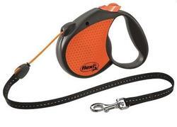 Flexi Рулетка Limited Edition Neon Reflect трос 5 м, оранжевый