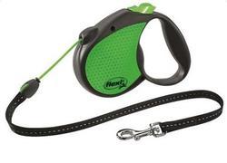 Flexi Рулетка Limited Edition Neon Reflect трос 5 м, зеленый
