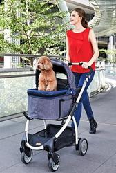IBBI Коляска CLEO для собак и кошек до 20 кг темно-синий