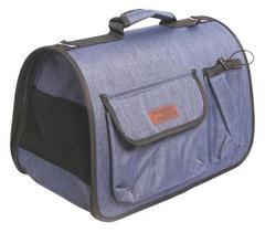 Lion Сумка-переноска Премиум с карманами, Джинса, размер М, 45х29х27см