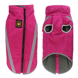 Al1 Куртка для больших собак фуксия из водонепроницаемого материала, размер 5XL