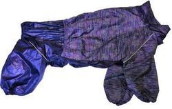 """ZooTrend Дождевик для больших пород собак, синий """"Вязка"""", размер 5XL, спина 60см"""