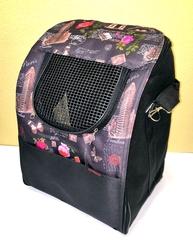 """DOGMAN Рюкзак для собак и кошек """"Вояж"""", микс черный Париж, размер 38х32х30см"""