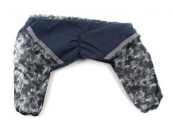 ZooPrestige Комбинезон для больших собак синий/серый камуфляж, размер 6XL, спина 65см