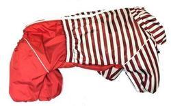 LifeDog Комбинезон для средних собак, красный/полоска, размер 2XL, спина 38-44см.