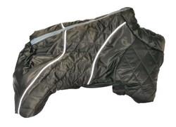 LifeDog Комбинезон для мопса №5, коричнево/болотный, синтепон, размер 5, спина 33-35см