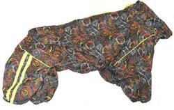 LifeDog Комбинезон для больших пород собак, черный микс Техно, размер 5XL, спина 60см