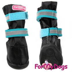 ForMyDogs Сапоги для крупных собак из нейлона с усиленной защитой от воды, черно/синие, размер №9, №10