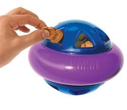 Kong Игрушка для собак Hopz мяч для лакомств, с пищалкой, d.10см
