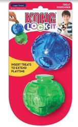 Kong Игрушка для собак Lock-It мячи для лакомств, 2 шт., d.8,3см