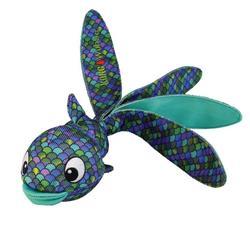 Kong Игрушка для собак Wubba Finz Рыба, с пищалкой, синяя
