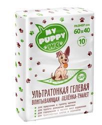 PetMil My Puppy WC Пеленка-туалет впитывающая одноразовая ультратонкая гелевая 60*40*10шт