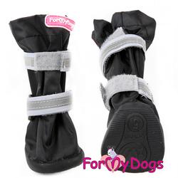 ForMyDogs Сапоги для крупных собак из нейлона с усиленной защитой от воды, черно/серые, размер №6, №8